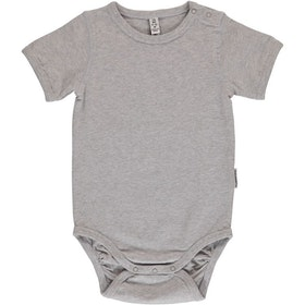 Maxomorra - Kortärmad body Light Gray Melange