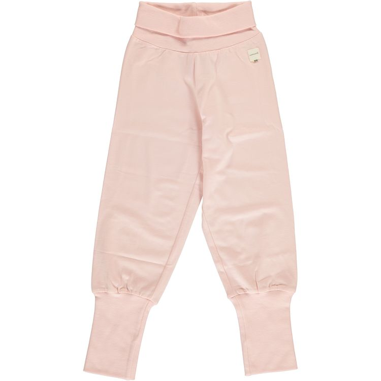 Maxomorra pants rib Pale Blush