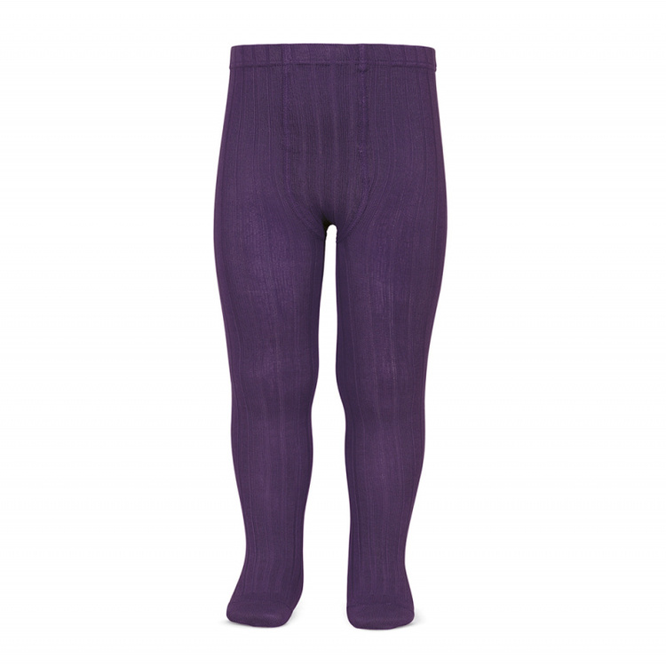 Condor tights rib aubergine