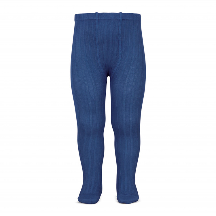 Condor tights rib indigo blue