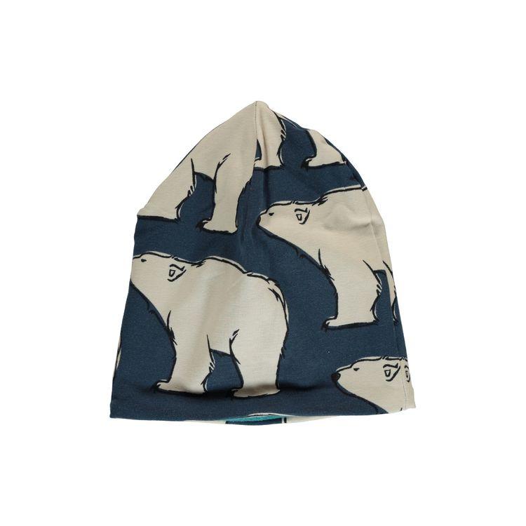Maxomorra - Fodrad mössa Polar Bear