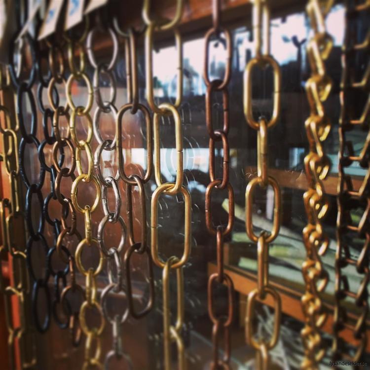 Oval dekorationskedja 15x23 mm