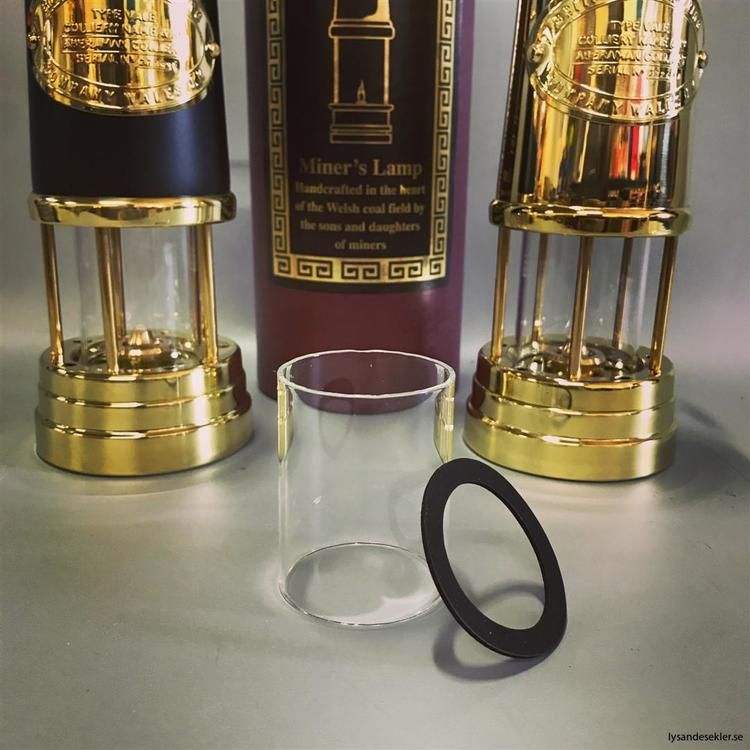 50x63 mm - lampglas cylinder till bl.a. gruvlykta mellan