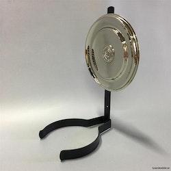 Väggreflektor rund modell i nickel