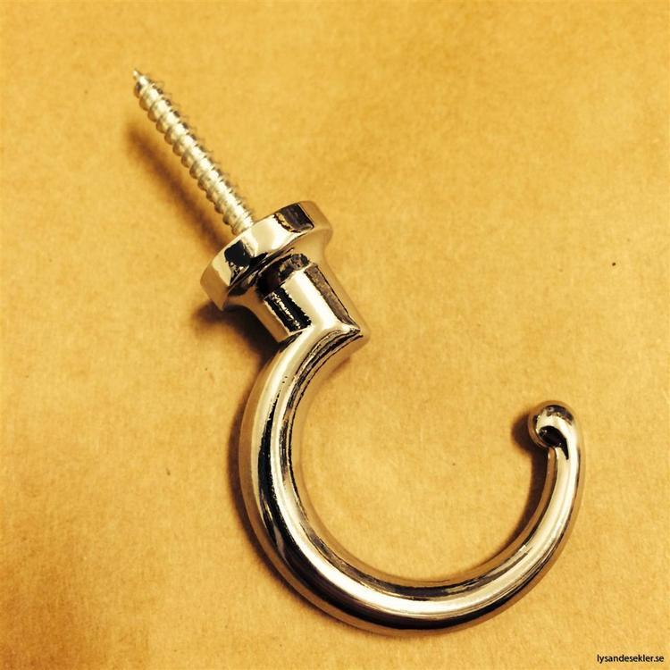 Takkrokar i krom 58-75 mm