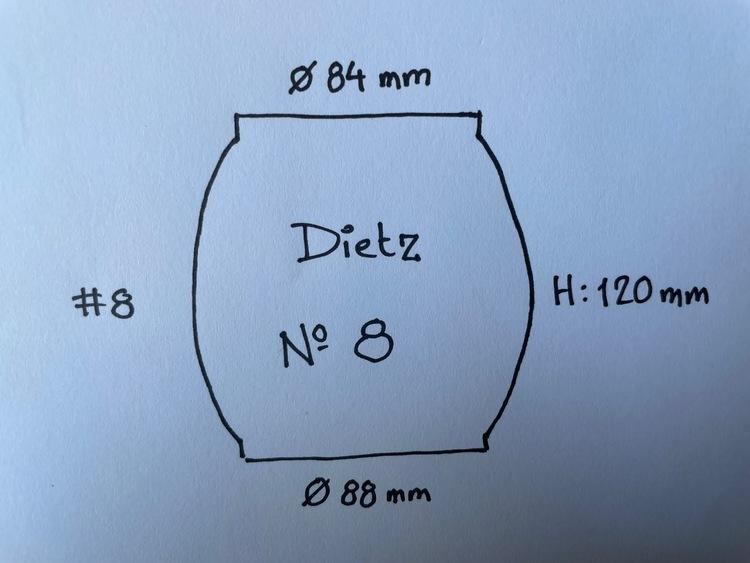 84x88x120 mm - glas till stormlykta Dietz No 8