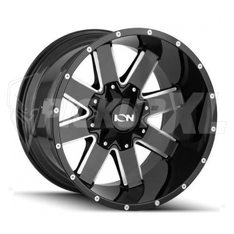 """Ion 141 Gloss Black Milled 20"""""""