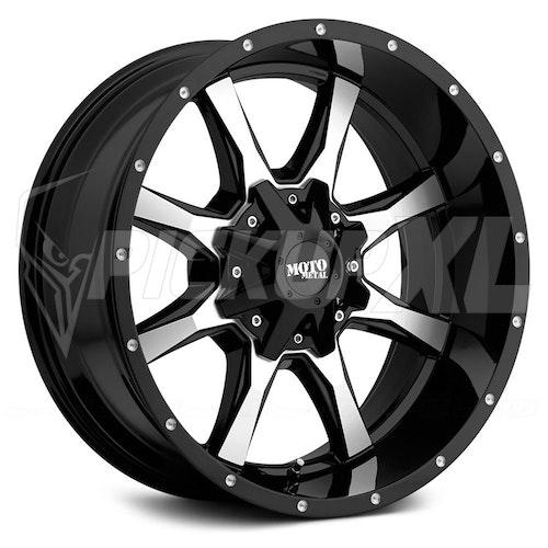 "Moto Metal MO970 Black / Polished 10x20"""