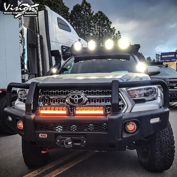 "Vision X Shocker 40"" Dual action - Vit / Orange"