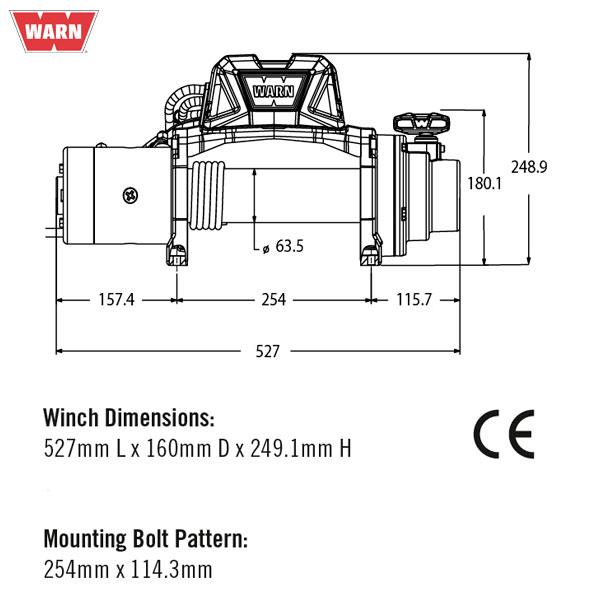 WARN VINSCH TABOR 8-S 12V