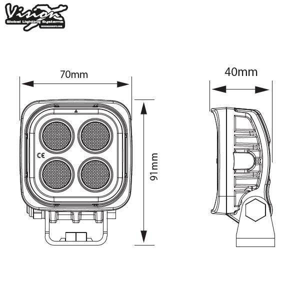 Vision X VL Series 4-LED 12W