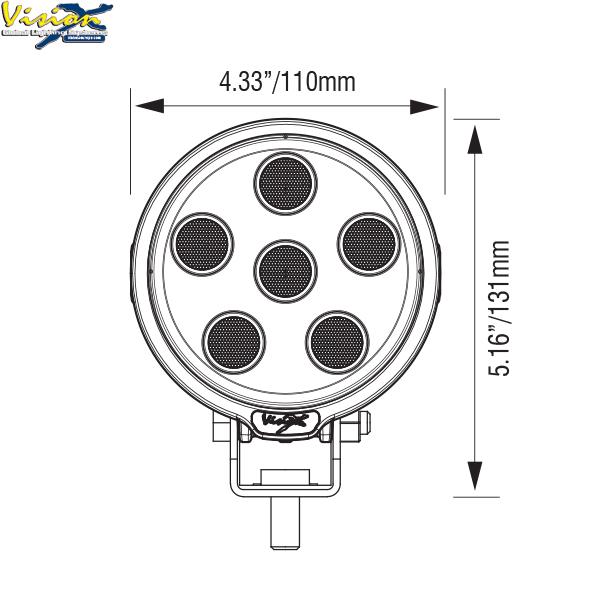 Vision X VL Series Round 6-LED 30W