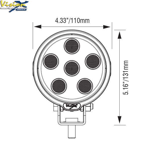 Vision X VL Series Round 9-LED 45W