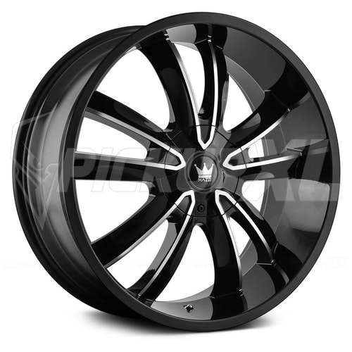 """Mazzi Obsession Gloss Black/Machined Face 22"""""""