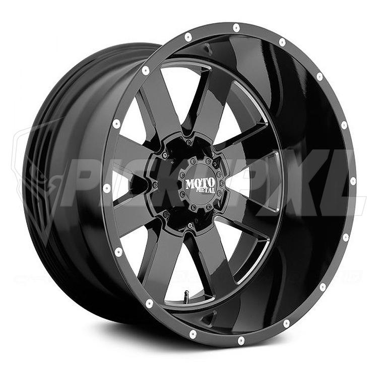 "Moto Metal MO962 Black / Polished 20"" (6-Bult)"
