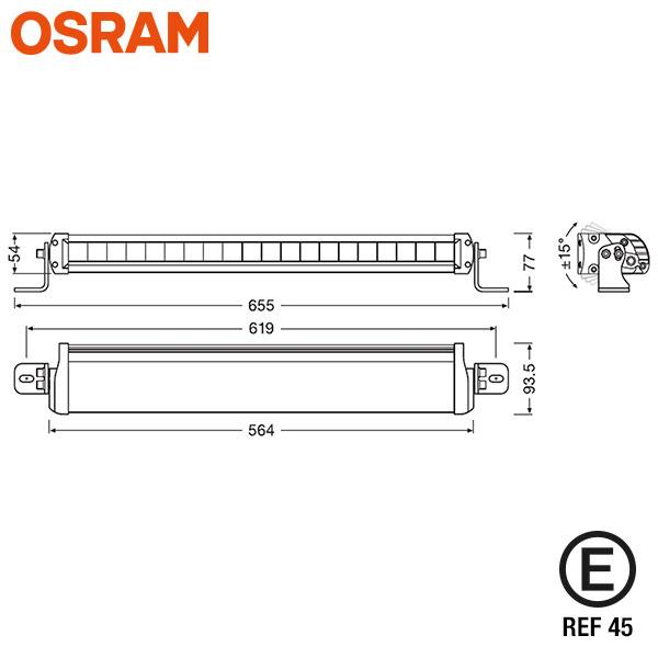 "OSRAM FX500 COMBI 22"" LED EXTRALJUSRAMP UNIVERSALKIT"
