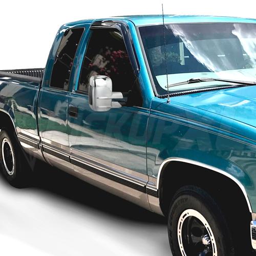 "Towing Mirrors - Krom. Manuellt fällbara. ""Smoke"" LED-blinkers. C10, 1988-1998"