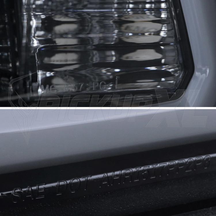 Strålkastare Smoke Dodge Ram 09-18