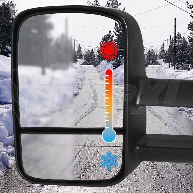 Towing Mirrors - Svart. El-fällbara, Defrost. Silverado 2007-2013