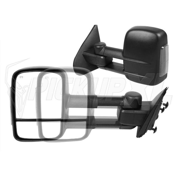 Towing Mirrors - Svart. Smoke-LED, El-fällbara, Defrost. Silverado 2014-2018