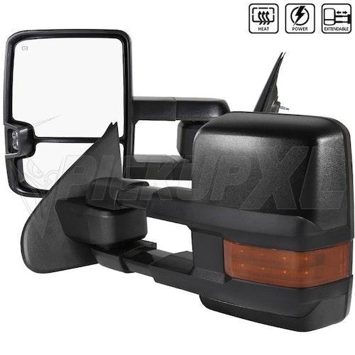 Towing Mirrors - Krom. Amber-LED, El-fällbara, Defrost. Silverado 2014-2018