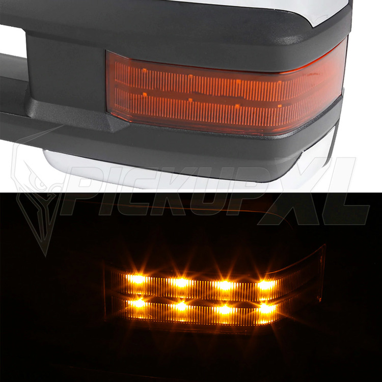 Towing Mirrors - krom. Amber-LED, Defrost. Silverado 2007-2013