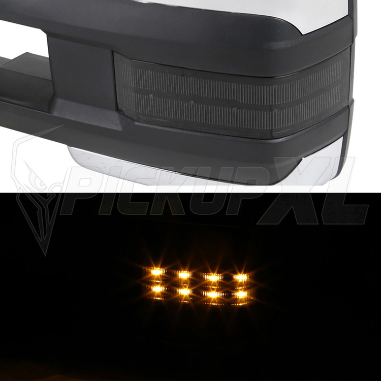 Towing Mirrors - krom. Amber-LED, El-fällbara, Defrost. Silverado 1999-2002