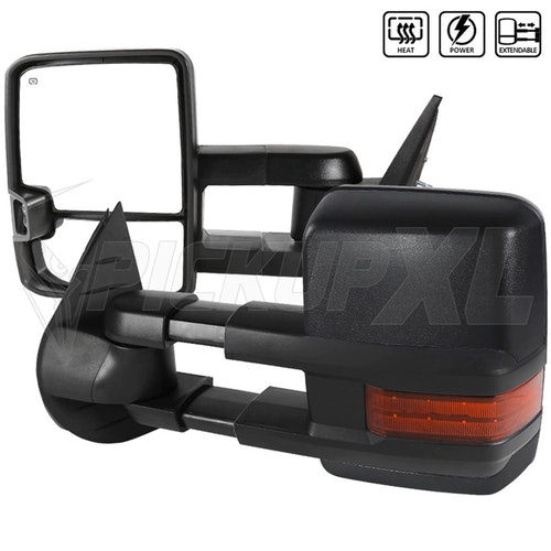 Towing Mirrors - Svart. LED, El-fällbara, Defrost. Silverado 2007-2013