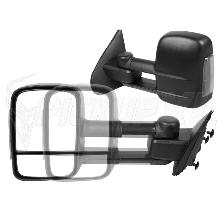 Towing Mirrors, Svart. Smoke-LED. Silverado 2014-2018