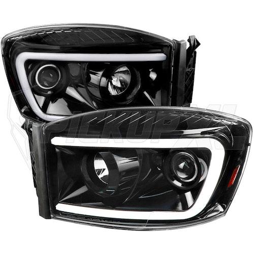 Strålkastare LED  Switchback Dodge Ram 06-08