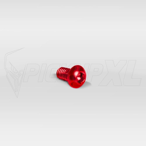 Dekorskruvar Kit M6 Eloxerade Röd 10p