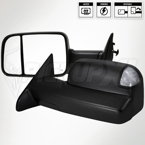 Towing Mirrors Power Heated Dodge RAM 1500 09-12