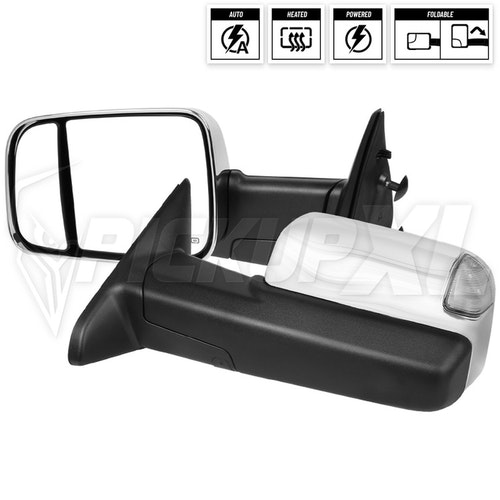 TOWING MIRRORS-POWER- CHROME COVER, RAM 09-12