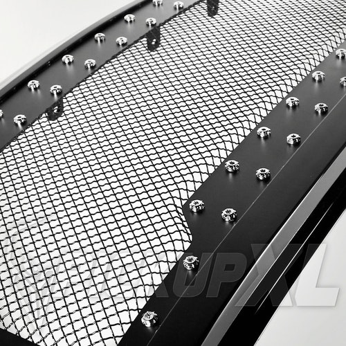 Glossy Black Grille w/ Stainless Steel Mesh F150 15-17