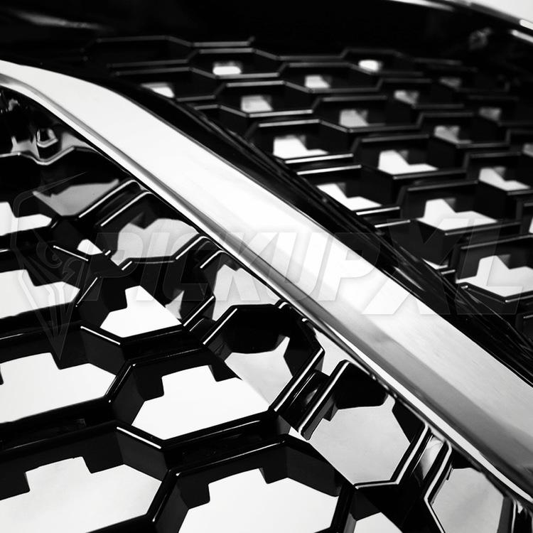 Grill Högglans Svart / Krom Dodge RAM 1500 13-18