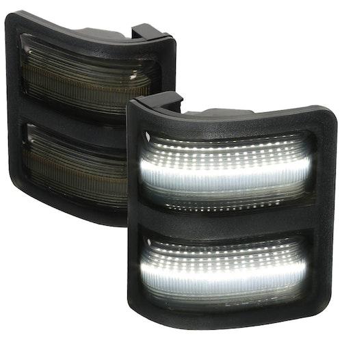 LED TOWING MIRROR - SMOKE, F250 08-15