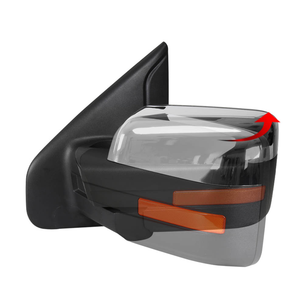 TOWING MIRROR-CHROME- LEFT, F150 07-14