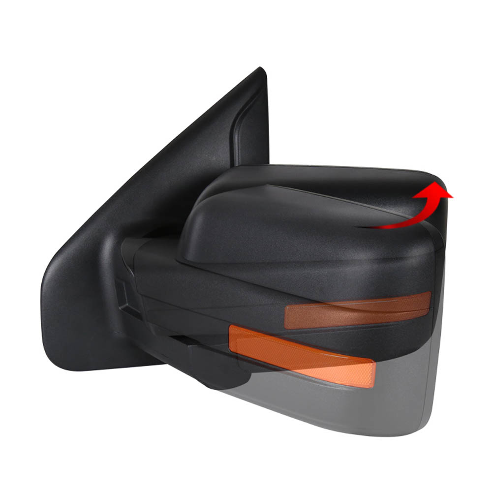 TOWING MIRROR-BLACK- LEFT, F150 07-14