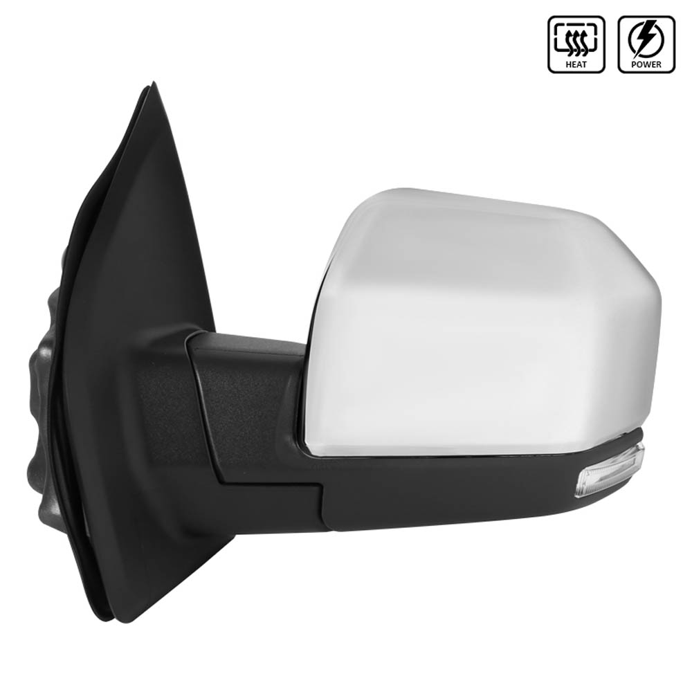 TOWING MIRROR-CHROME- LEFT, F150 15-17