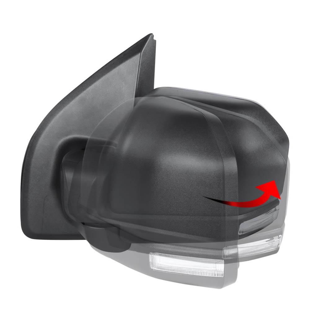 TOWING MIRROR-BLACK-LEFT, F150 15-17