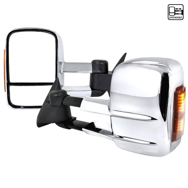 Towing Mirrors - Krom. Manuell, med LED-blinkers. C10, C/K 1500-2500-3500, 1988-1998