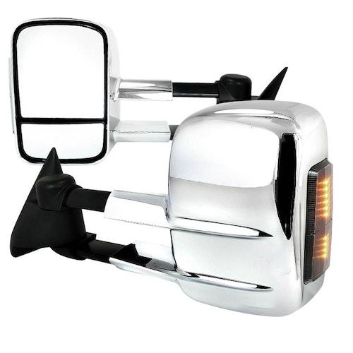 Towing Mirrors - Krom. Elektrisk, med LED-blinkers. C10, C/K 1500-2500-3500, 1988-1998