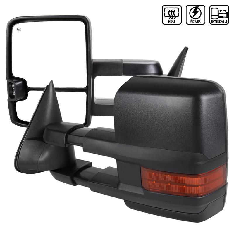 Towing Mirrors - Elektrisk. Med värme & LED-blinkers. C10, C/K 1500-2500-3500, 1988-1998