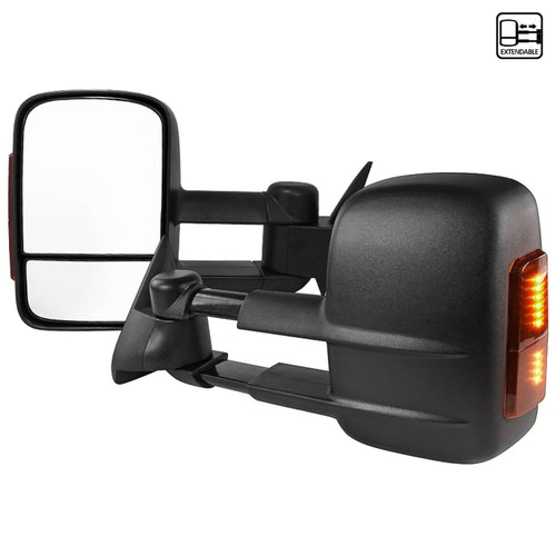 Towing Mirrors - Manuell, LED-blinkers. C10, C/K 1500-2500-3500, 1988-1998