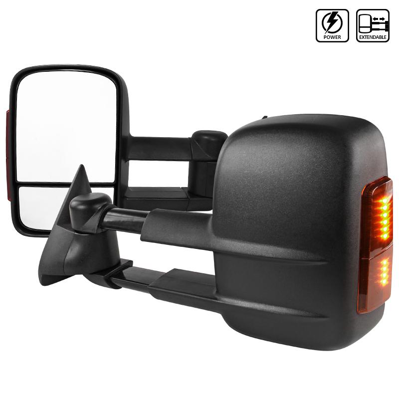 Towing Mirrors - Elektrisk. LED-blinkers. C10, C/K 1500-2500-3500, 1988-1998