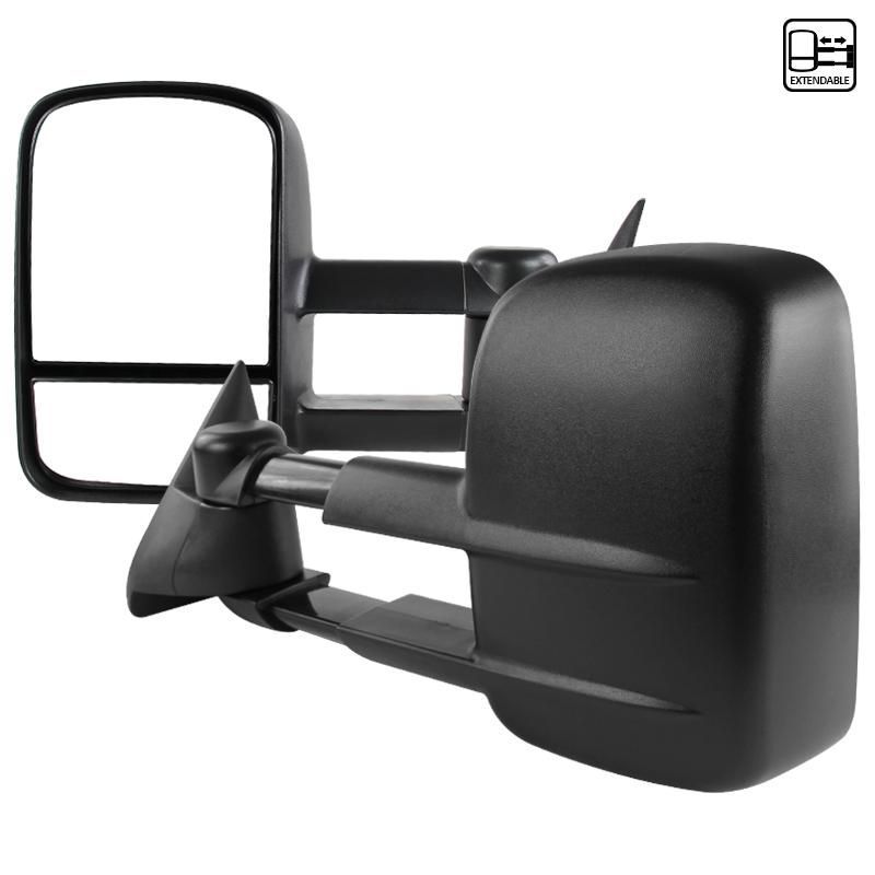 Towing Mirrors - Svart. Manuellt fällbara. C10, 1988-1998