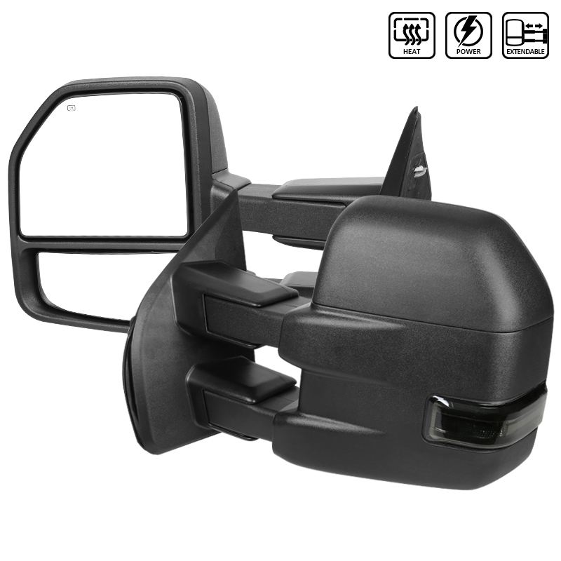 TOWING MIRRORS-BLACK TEXTURE, F150 15-17