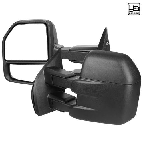 TOWING MIRRORS MANUAL-BLACK TEXTURE, F150 15-17