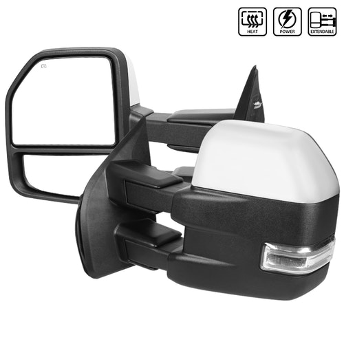 TOWING MIRRORS-CHROME, F150 15-17
