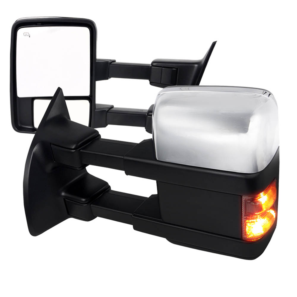 HEATED TOWING POWER MIRRORS - CHROME, F250 08-10